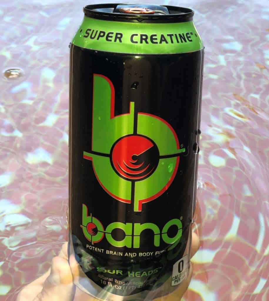 Bang energy drink, sour head flavor.