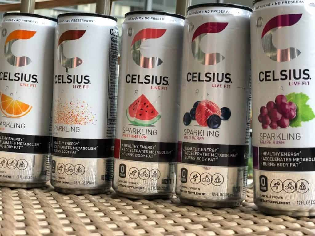 Picture of Celsius Energy Drink cans