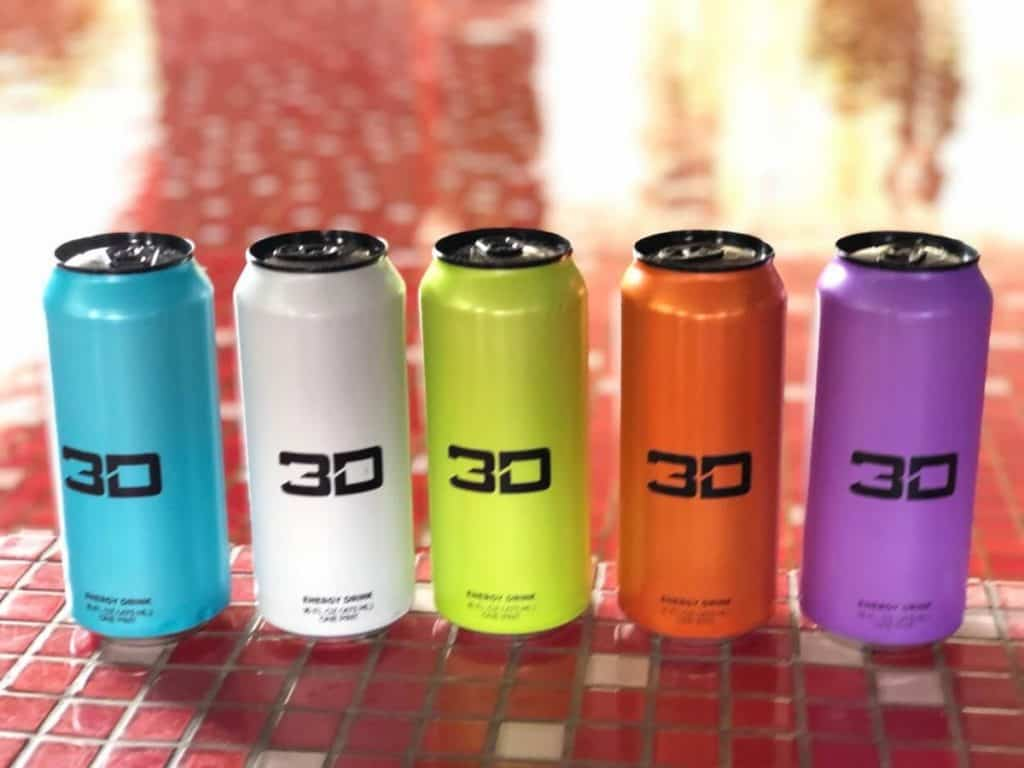 5 cans of 3D Energy drink