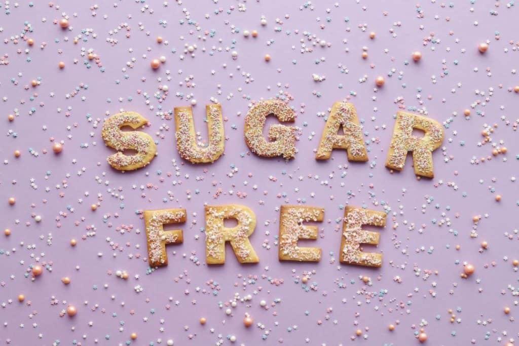 "Text that says ""sugar free"""