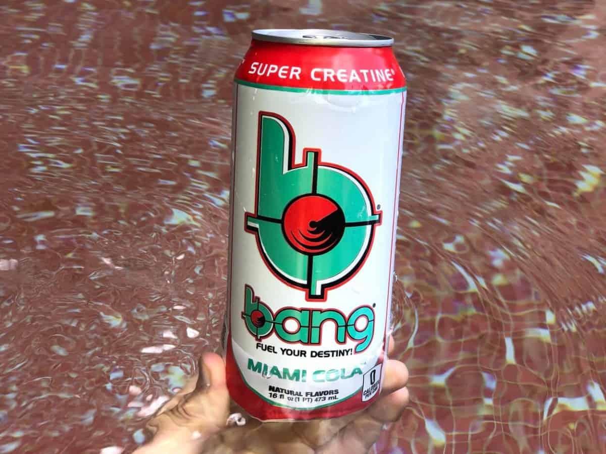 """Super Creatine"" label on Bang energy drink"