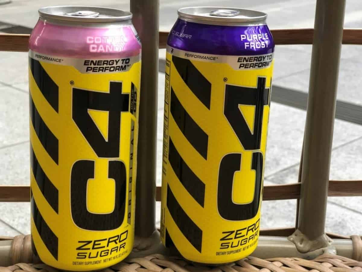 C4 energy drink, Yellow can