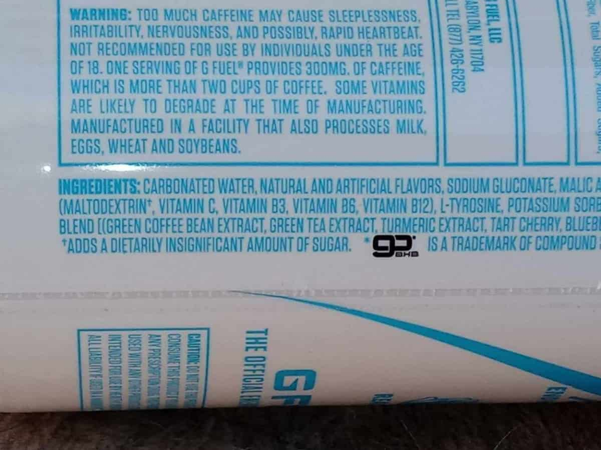 Can, ingredients