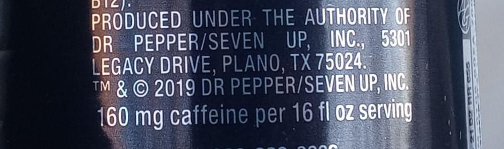 Caffeine content, Black can, Venom energy drink