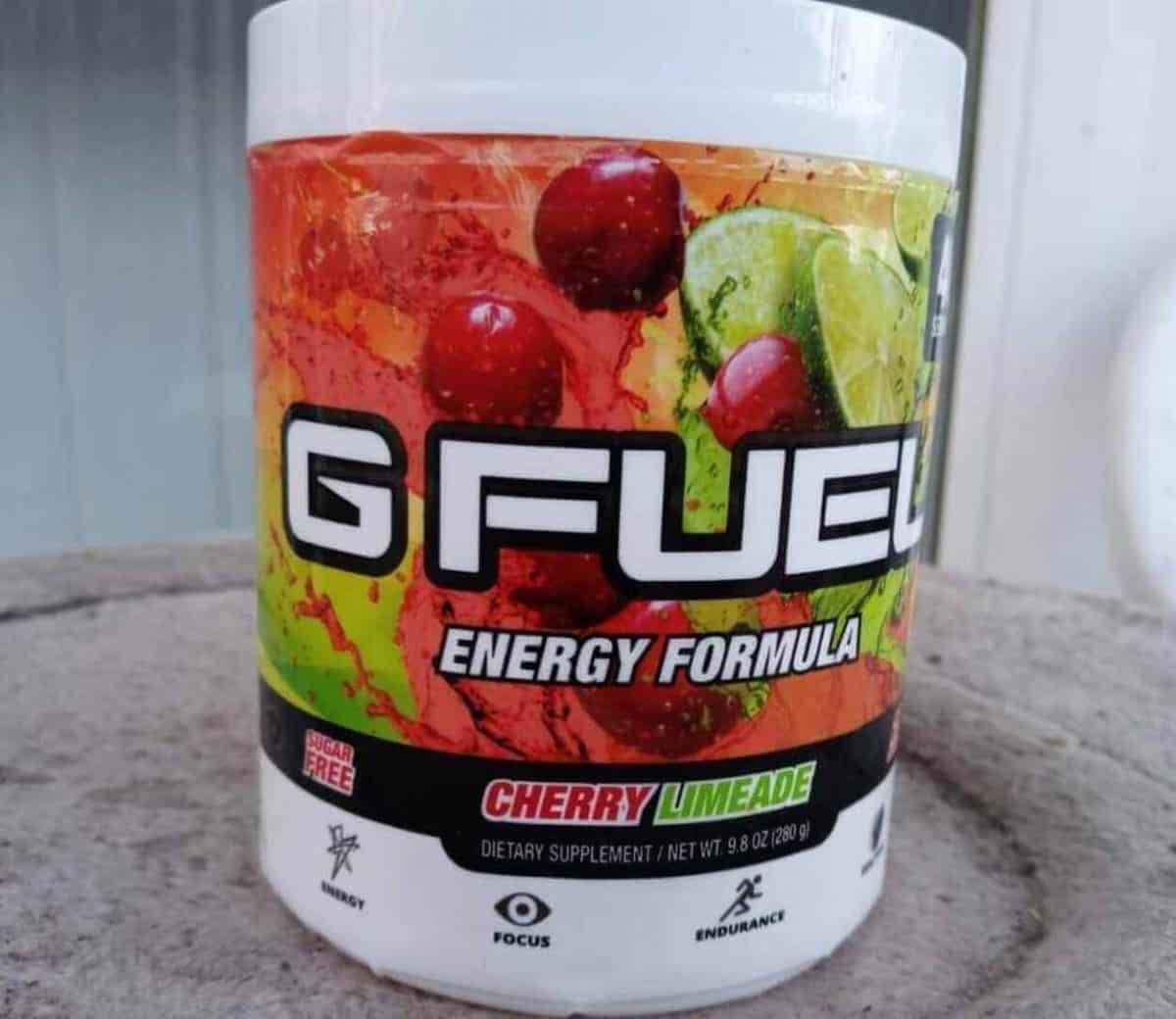 tub of energy drink, powdered energy drink