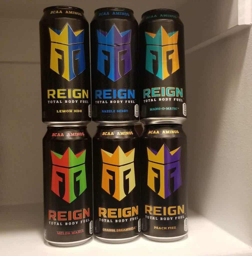 6 cans of Reign enegy drink