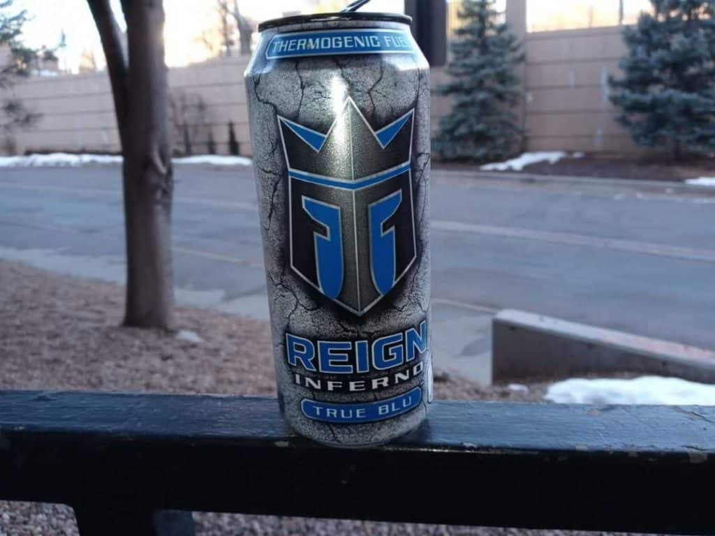 A can of Reign energy drink