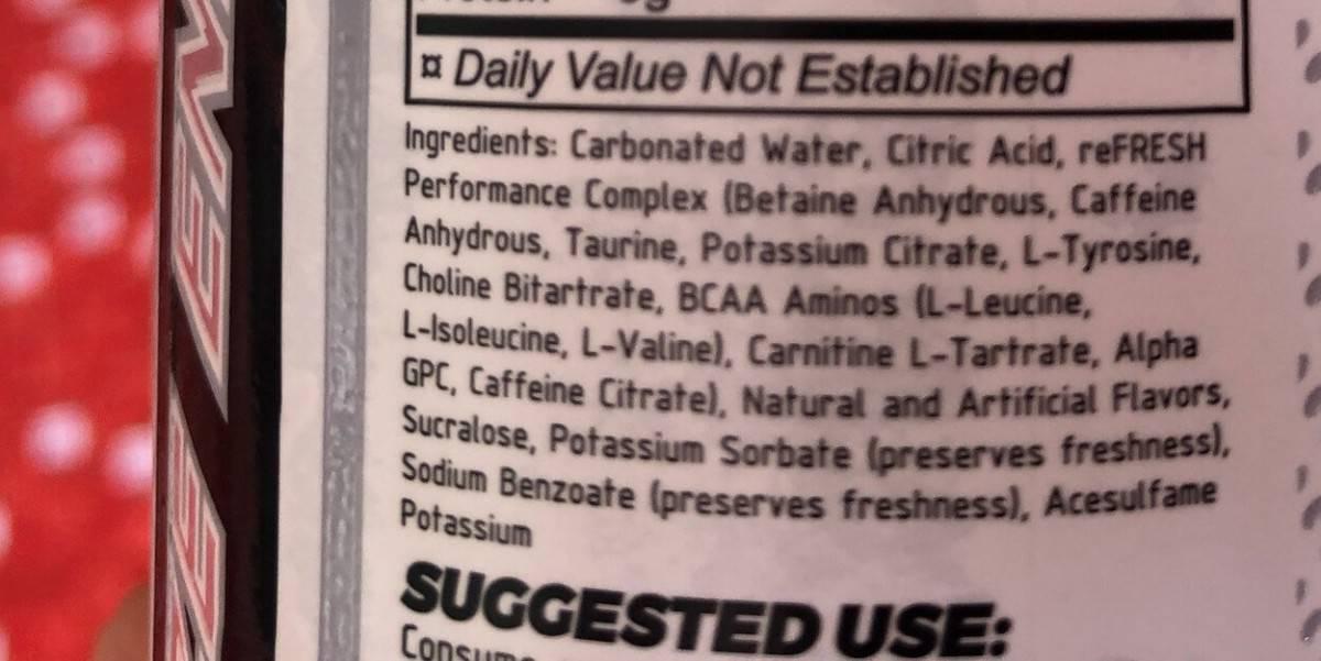 Raze Ingredients