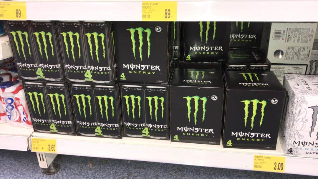 Monster Energy in Physical Stores