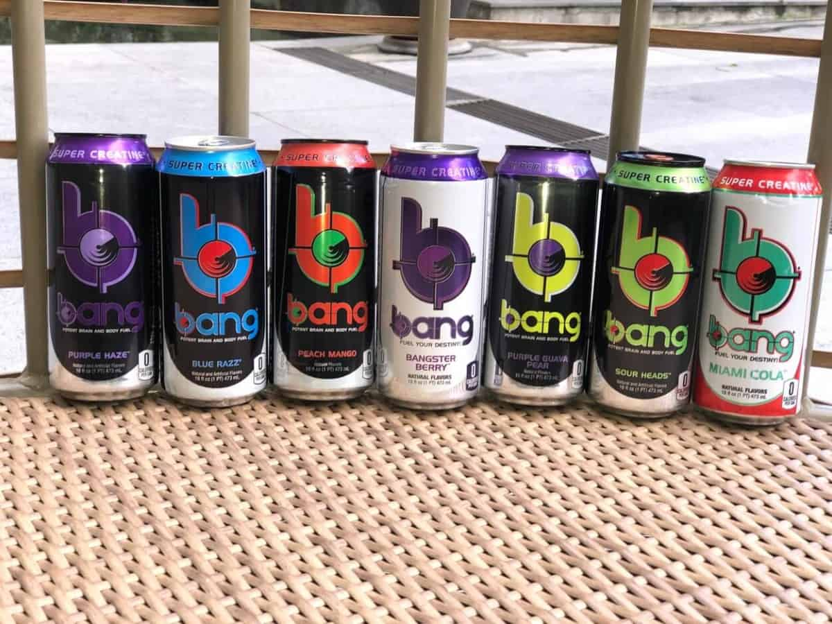 Bang energy drink in different flavors