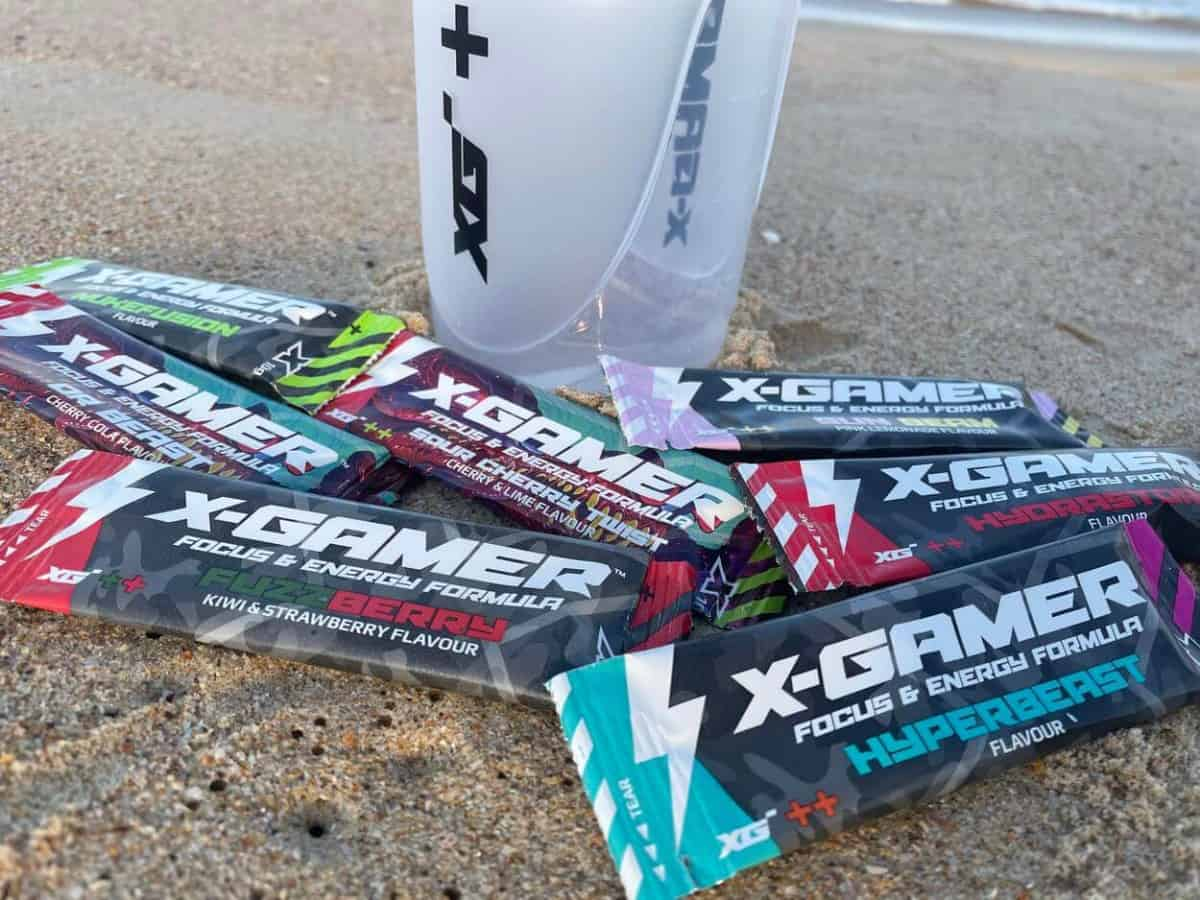 Different flavors of X-Gamer energy drink