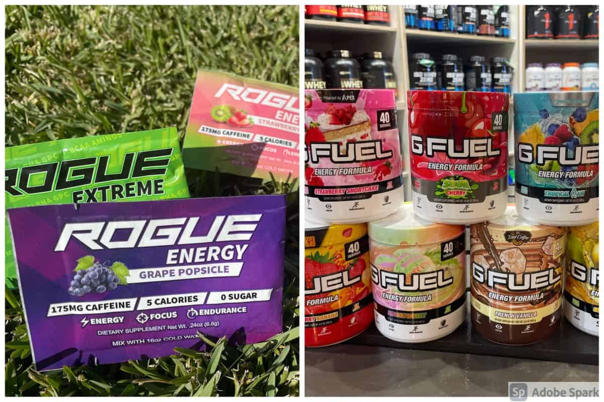 Rogue Energy and G Fuel Powder