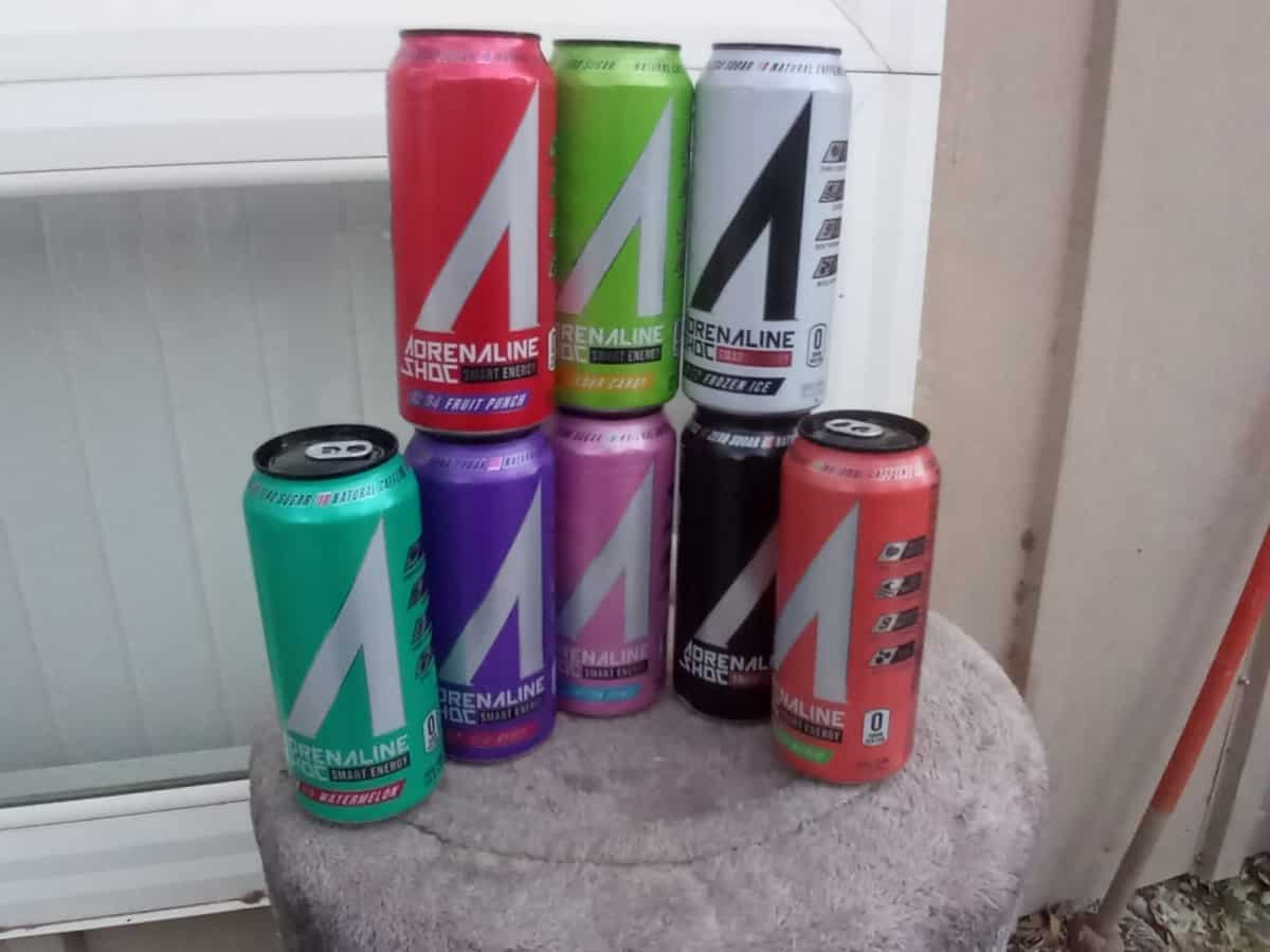 Eight Exciting Flavors of Adrenaline Shoc Energy Drink