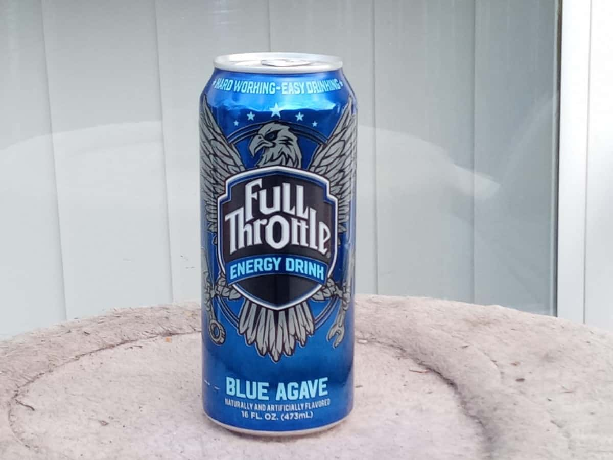 Blue Agave Flavor of Full Throttle Energy Drinks