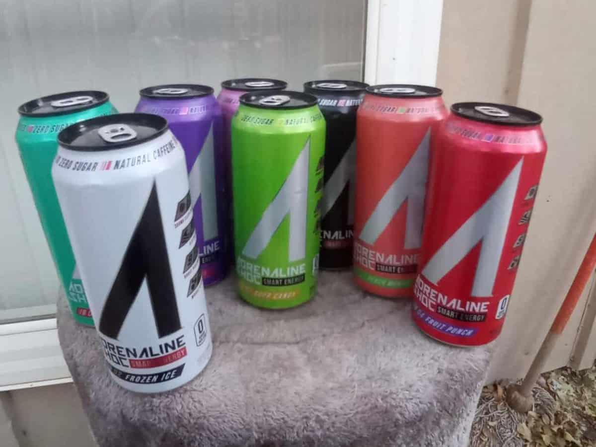 Adrenaline Shoc energy drink in different flavors