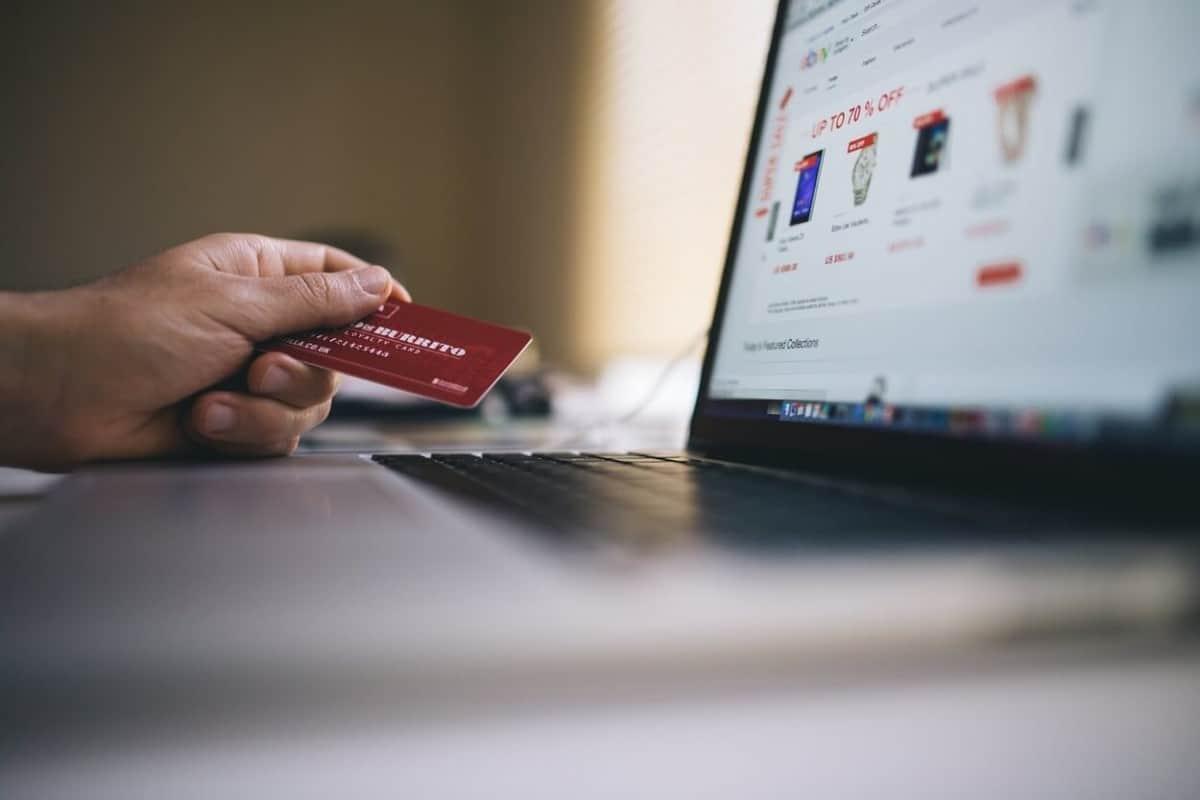 online shopping, card, laptop