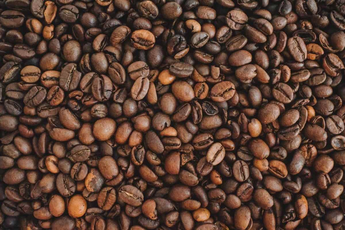 A picture of coffee beans.