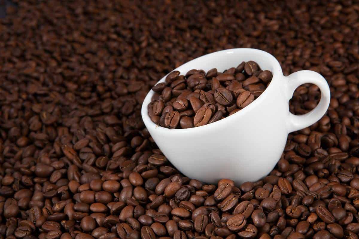 Caffeine in white cup