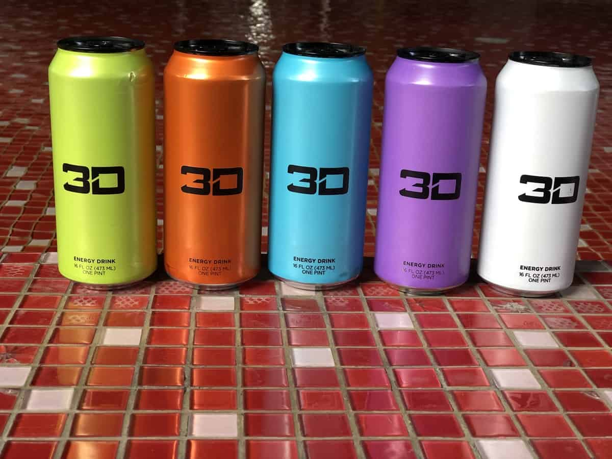 3D energy in colorful cans