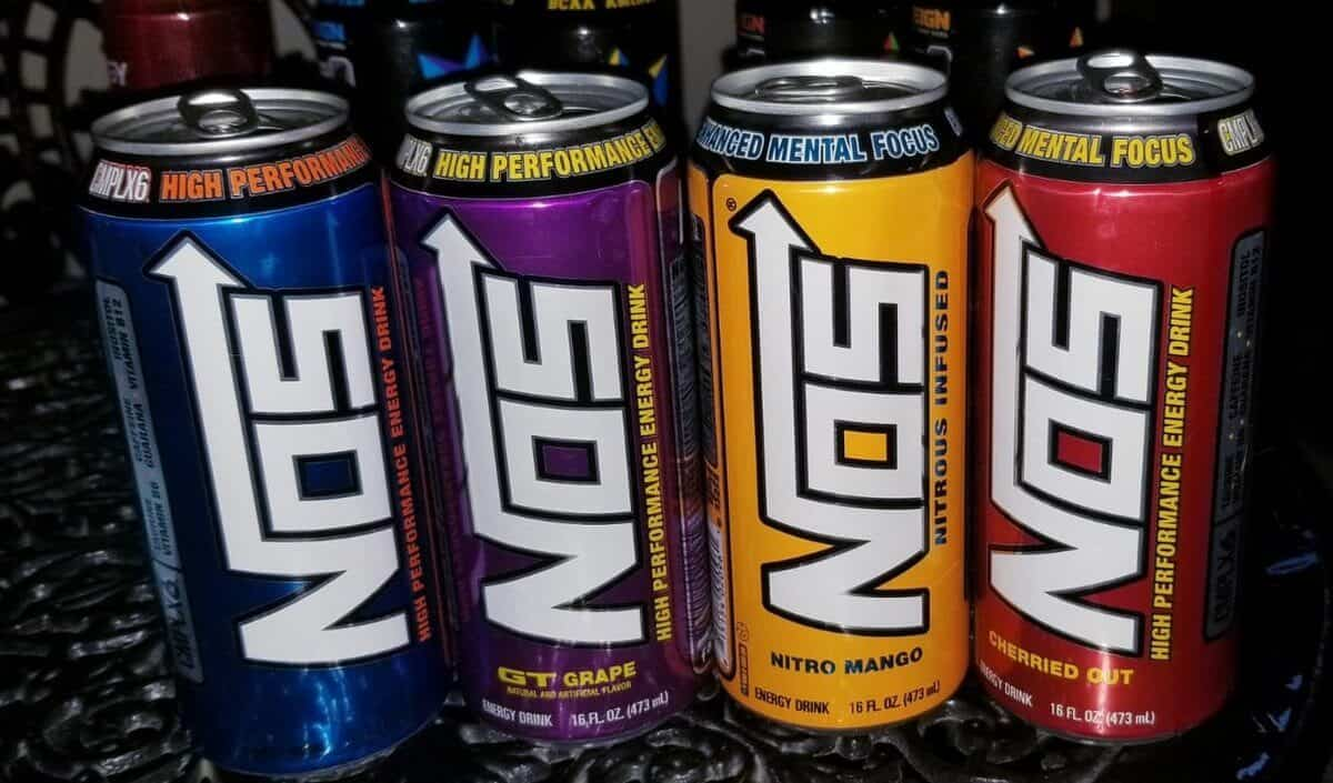 NOS energy drink with different flavors