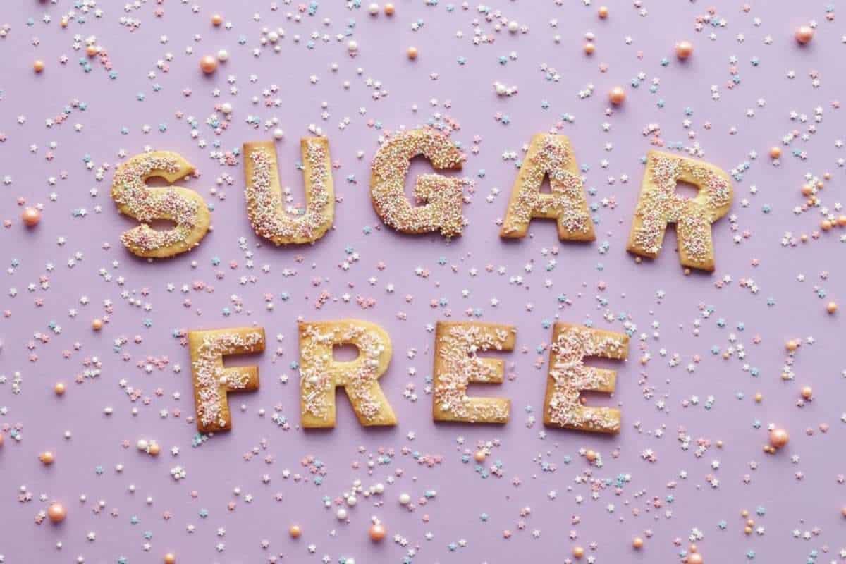 A photo of sugar free.