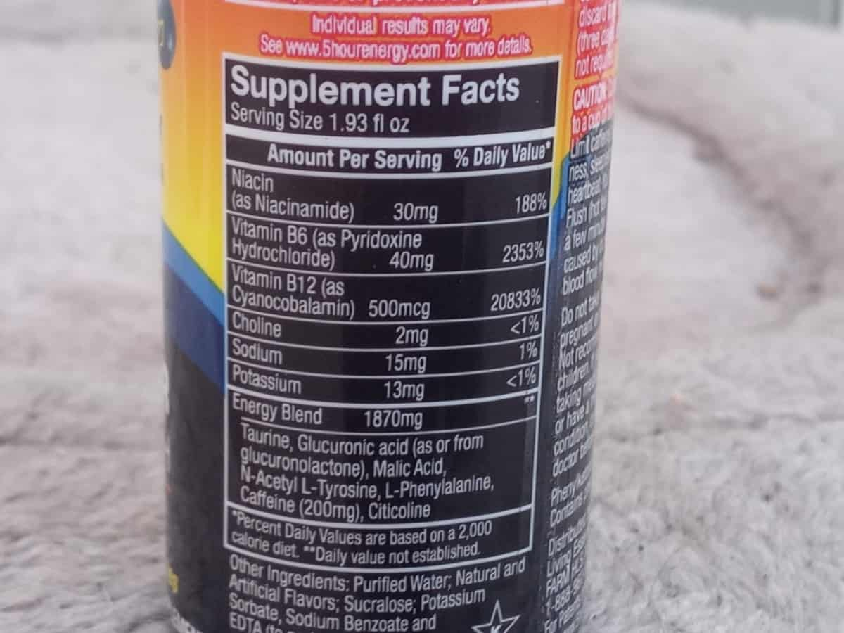 A look at the nutrition facts.