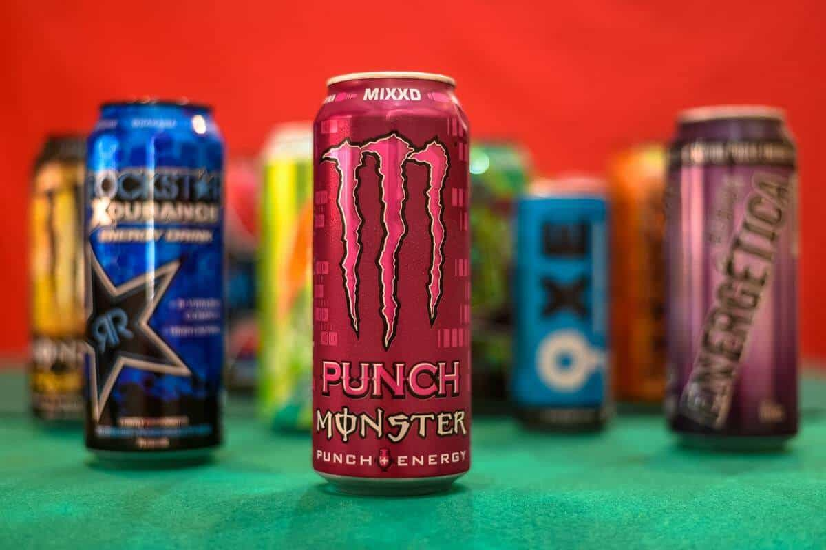 Variety of energy drinks