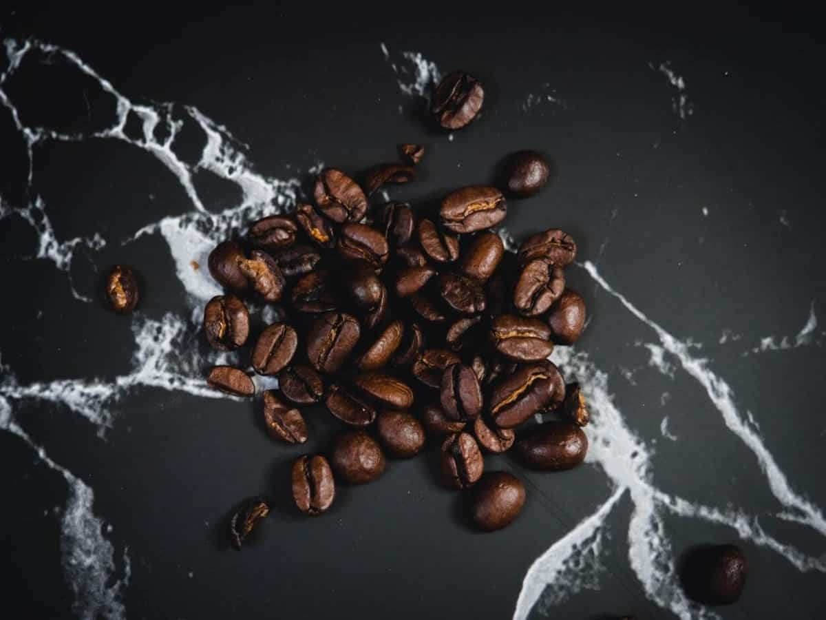 A group of coffee bean scattered