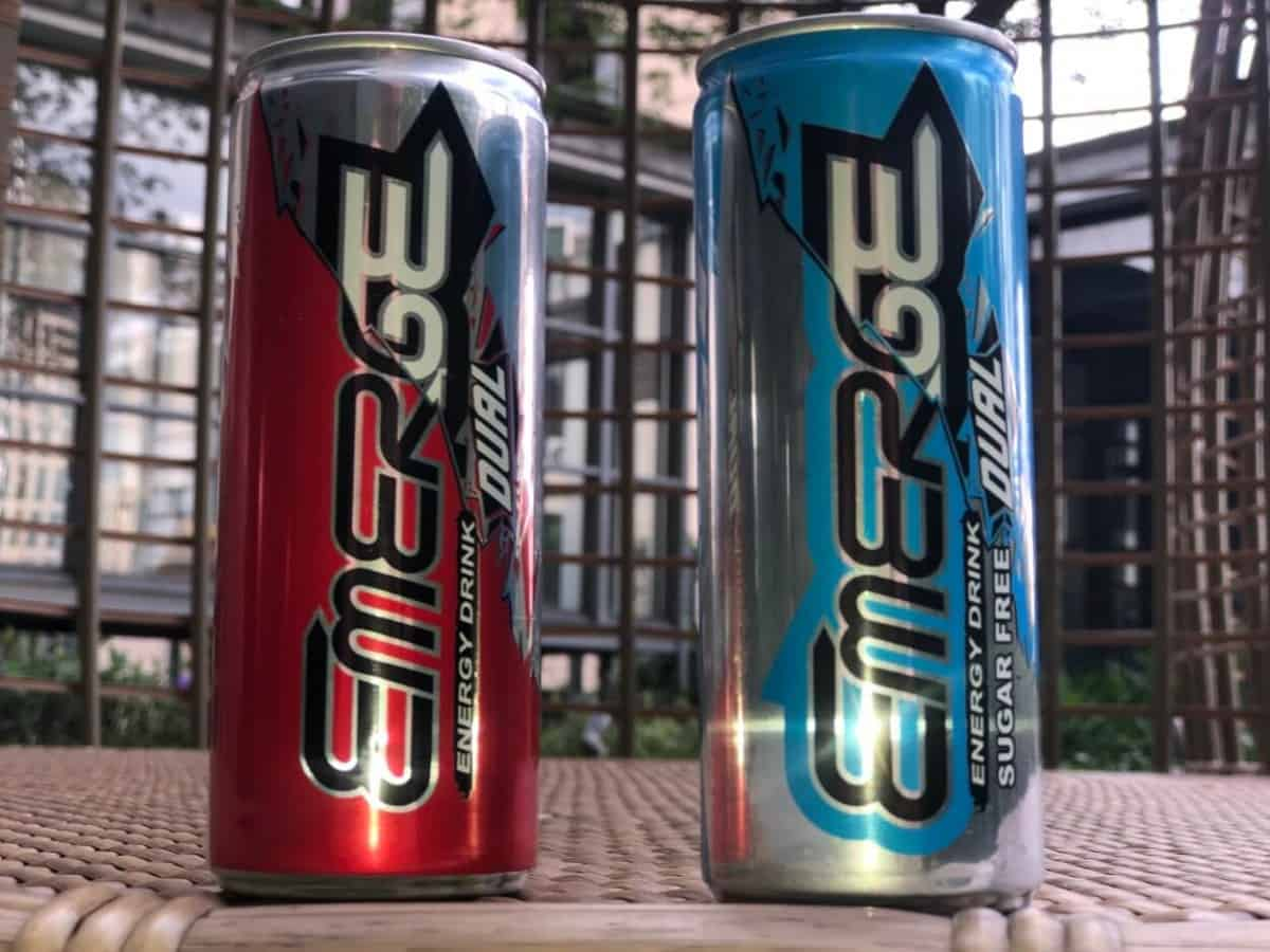 2 cans of Emerge Energy Drink