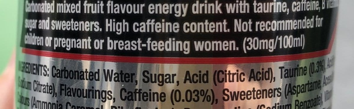 A photo of a warning label.