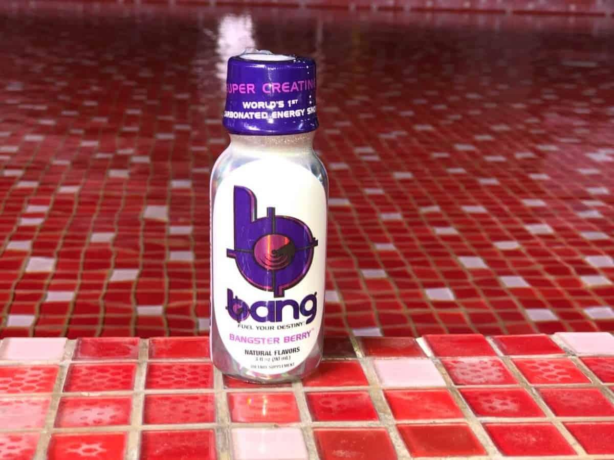 A serving of Bang energy shot