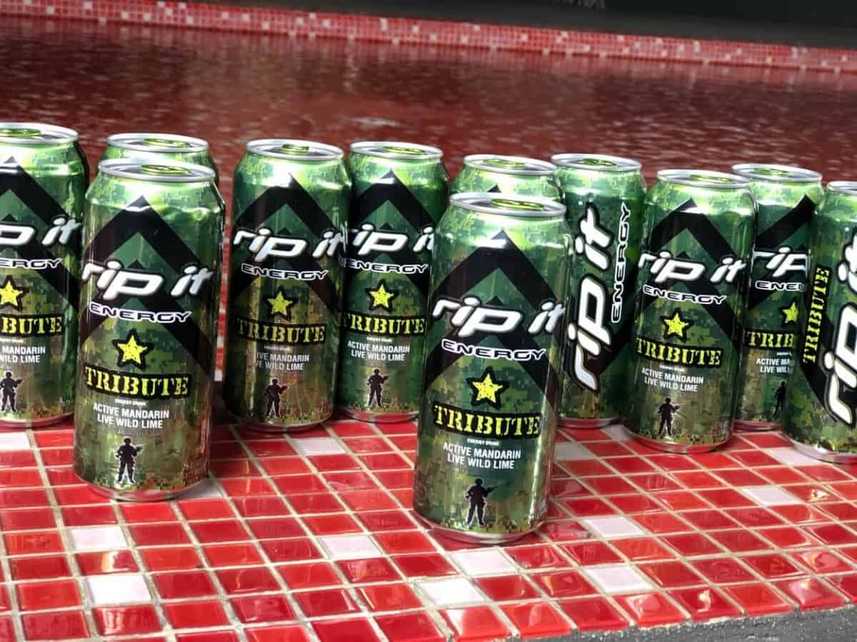 Cans of Rip It energy drink