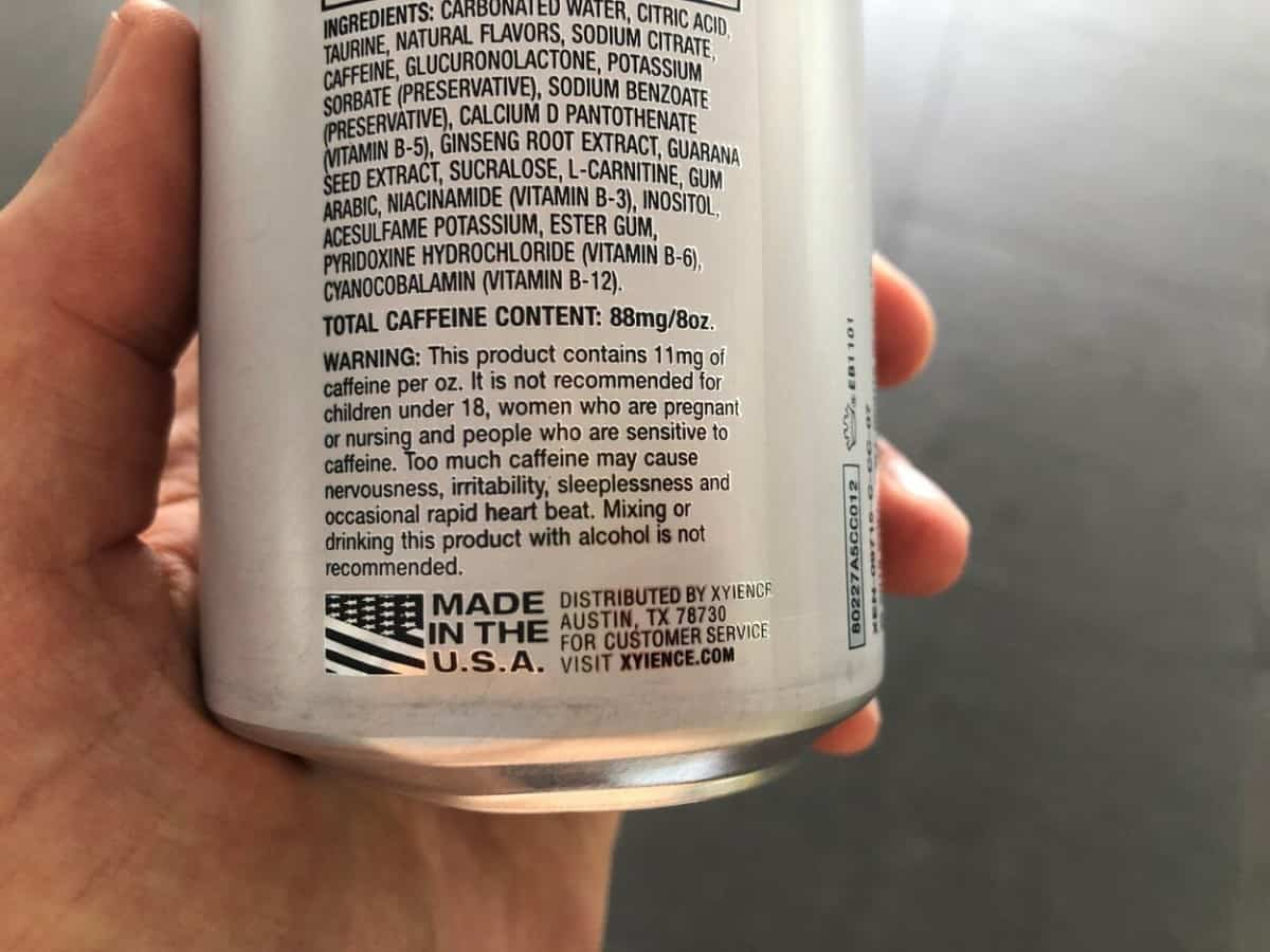 A can of Xyience energy drink