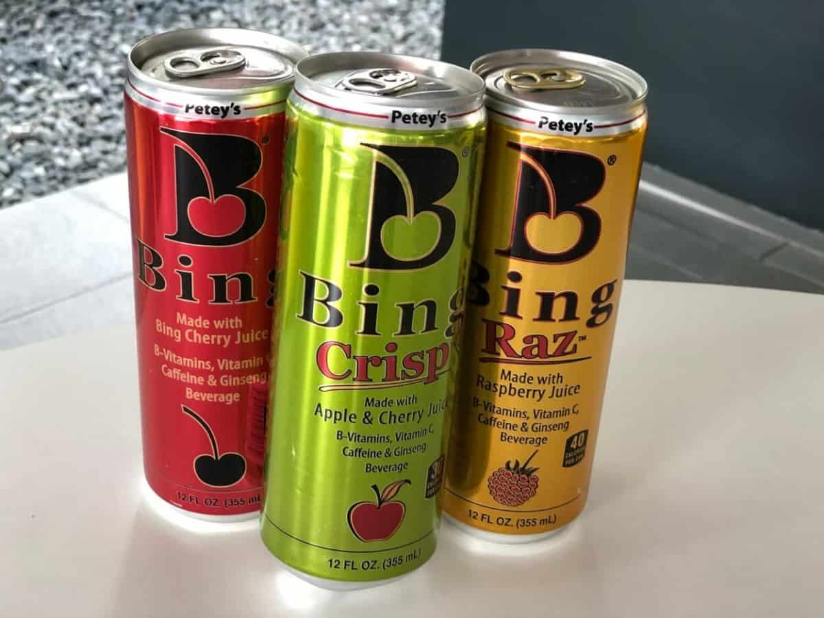 Cans of Bing energy drink