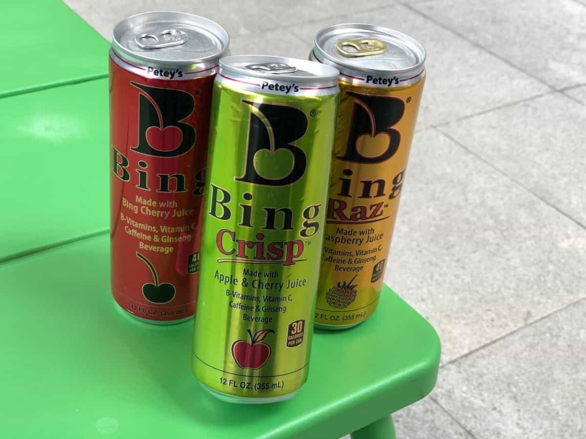 Bing energy drink in different flavors