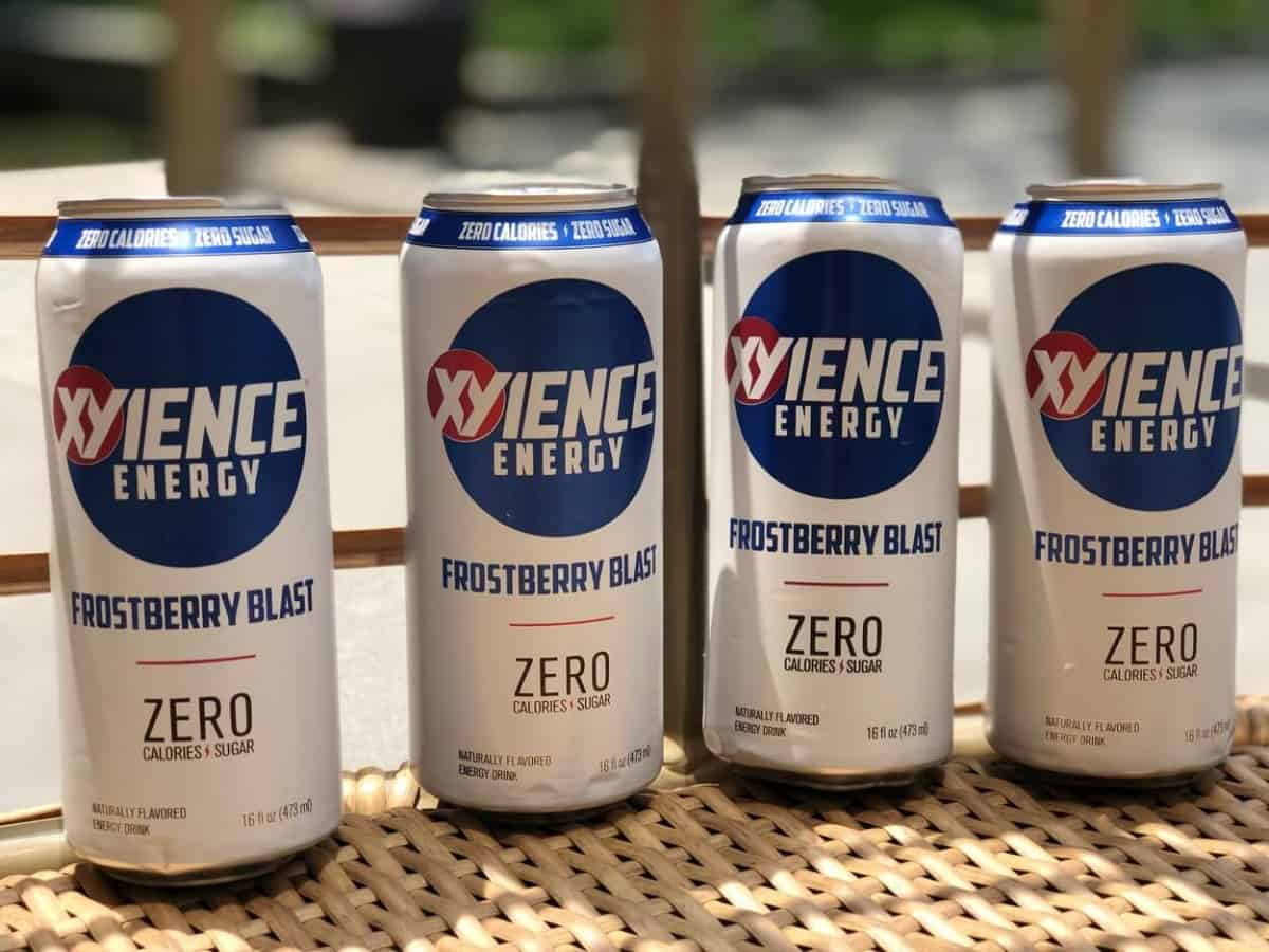 4 cans of 16-ounce Xyience Energy Drink Frostberry Blast.