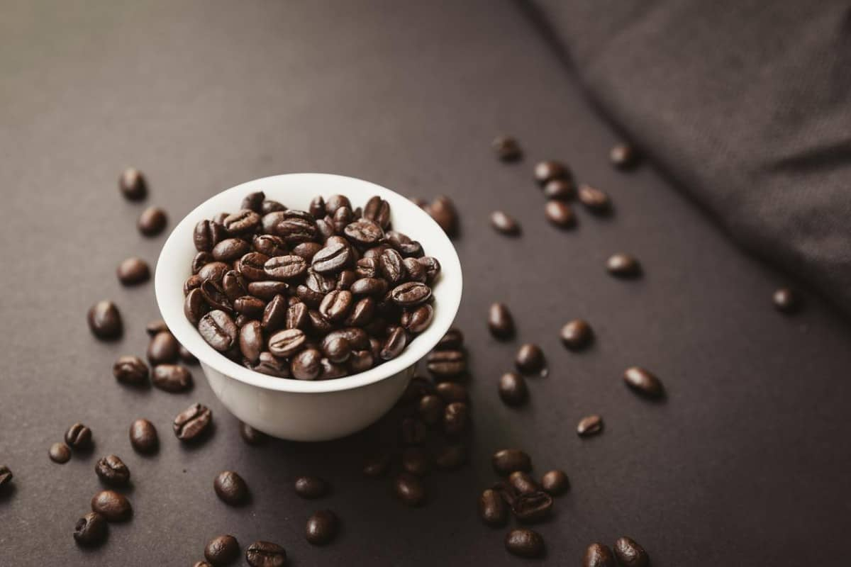 A photo of coffee beans