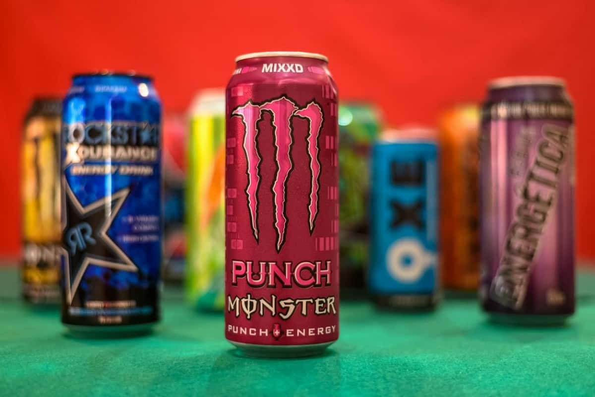Different kinds os energy drink brand