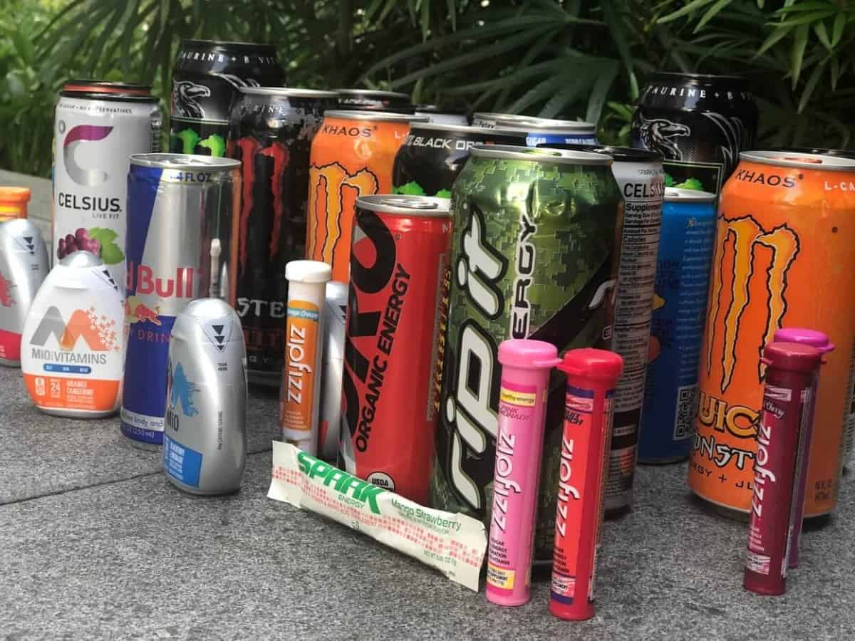 Energy drinks from different brands