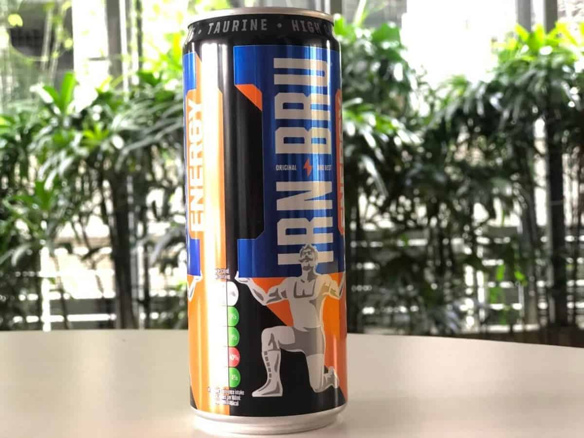 A can of Irn-Bru Energy drink