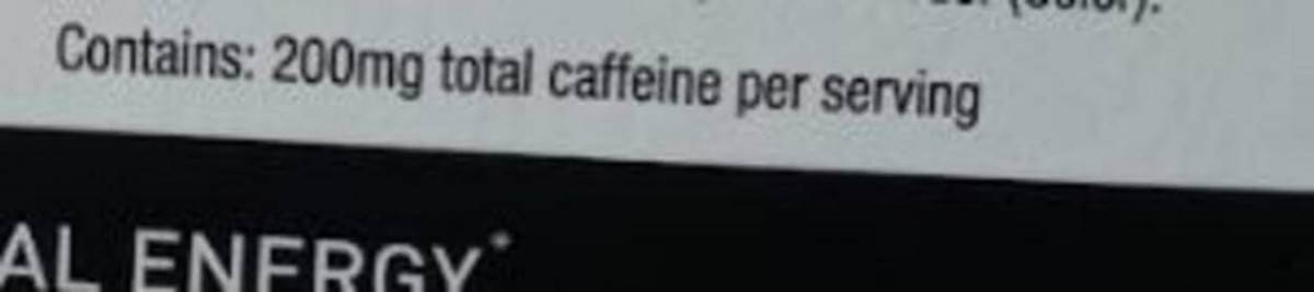 total caffeine content of Celsius on-the-go per serving.