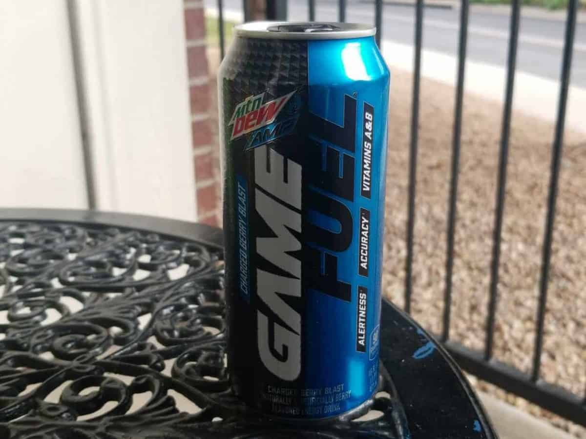 A can of game Fuel Berry Blast