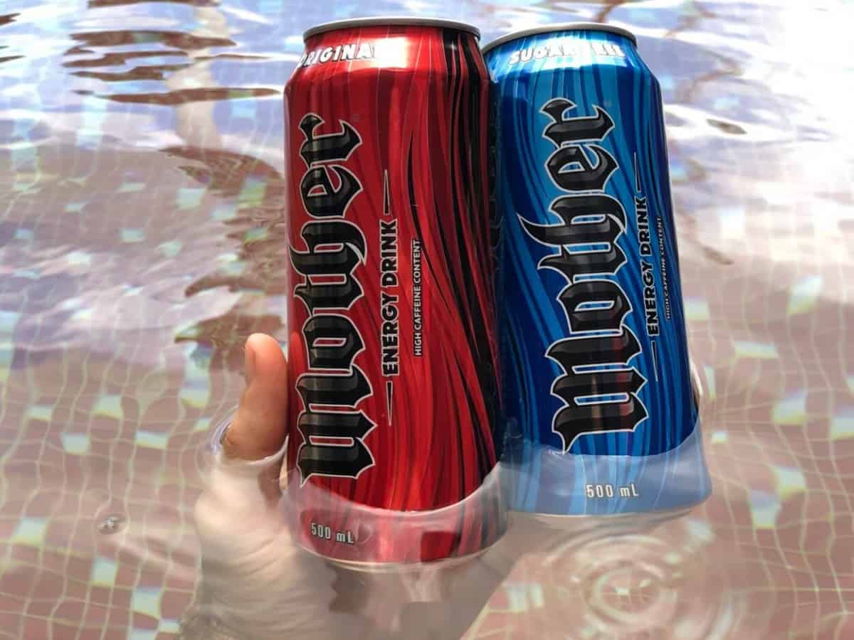Mother Energy 500 ml can original and sugar-free.